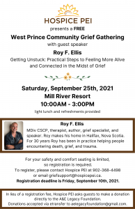 West Prince Community Grief Gathering @ Mill River Resort